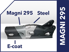 Magni 295 chassis and structural component high-strength steel